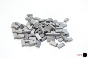 Pastillas de carburo de tungsteno 2.5mm x 4.3mm x 10.6mm